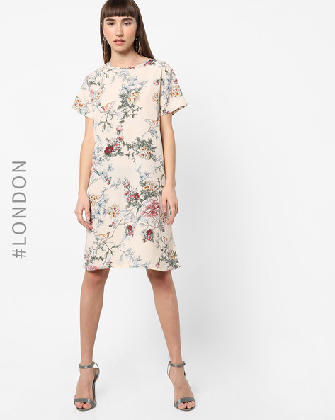 Floral Print Shift Dress By Glamorous ( Multi )