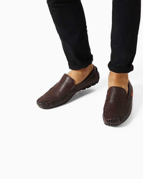 Genuine Leather Loafers By Lee Cooper ( Purple )
