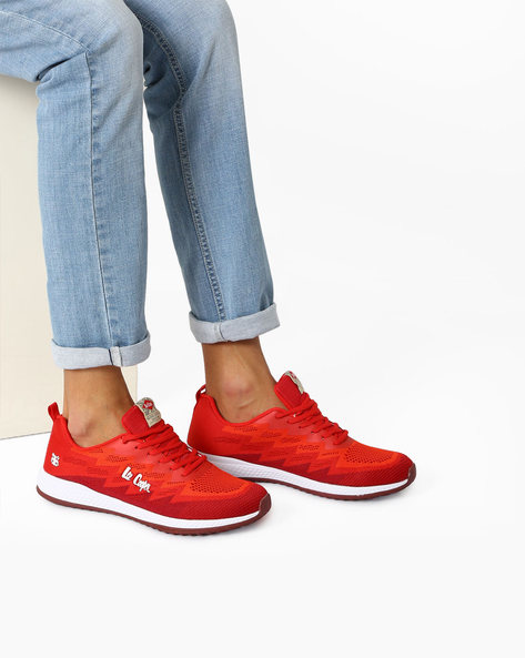 Colourblock Lace-Up Sports Shoes By Lee Cooper ( Red )