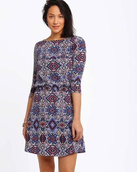Printed Dress With Elasticated Waist By CHM ( Assorted )