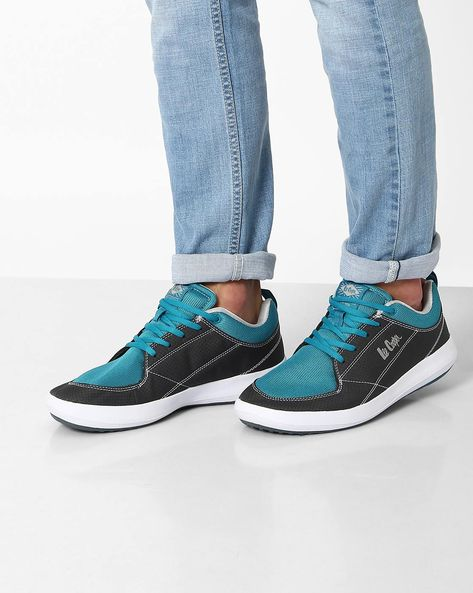Textured Panelled Shoes By Lee Cooper ( Grey )
