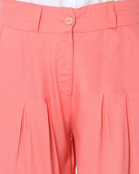 Palazzo Pants With Elasticated Back-Waist By W ( Pink )