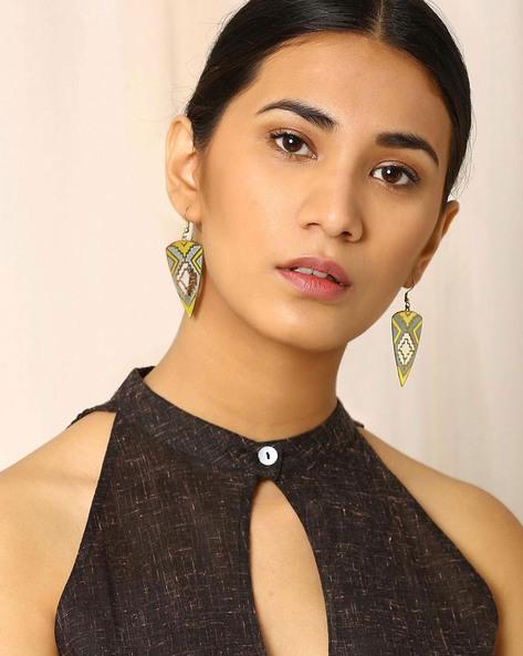 Brass Drop-Earrings By Indie Picks ( Multi ) - 460017805001