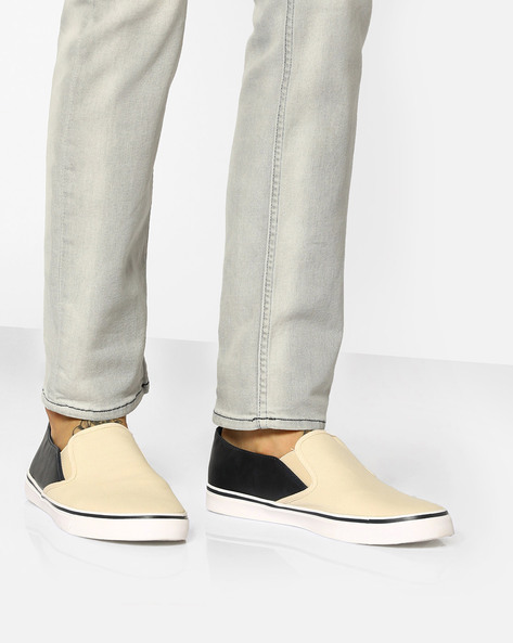 Colourblock Casual Canvas Shoes By UNITED COLORS OF BENETTON ( Cream )