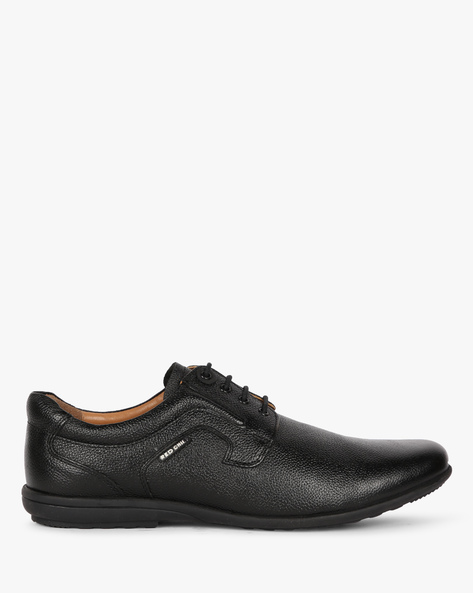 Textured Leather Derby Shoes By RED CHIEF ( Black )