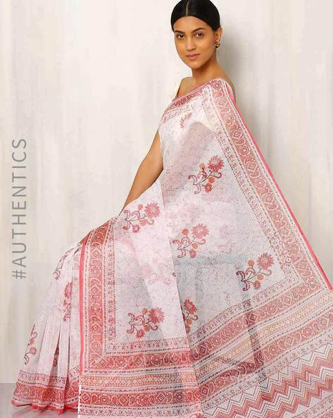 Hand Block Printed Kota Saree By Indie Picks ( Multi ) - 460016464001