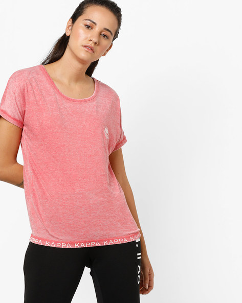 Overdyed Top With Back Cut-Out By KAPPA ( Maroon )