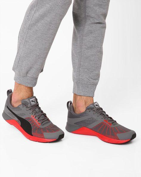Proper Colourblock Sports Shoes By Puma ( Grey )