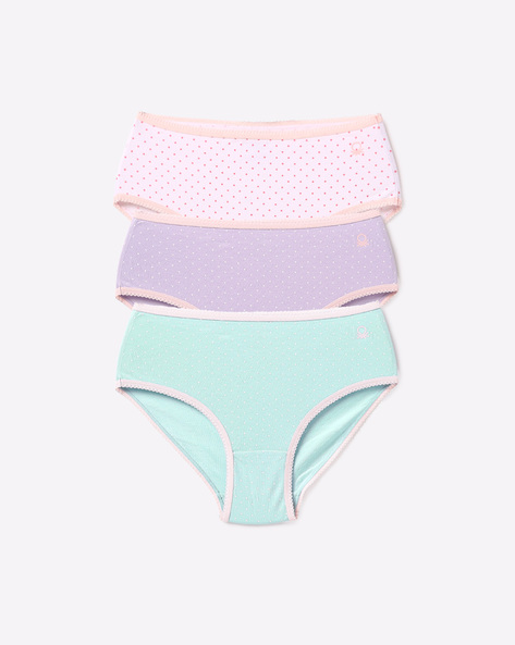 Pack Of 3 Printed Panties By Under Colors Of Benetton ( Assorted )