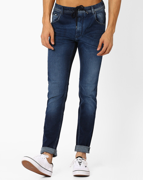 Regular Fit Mid-Washed Jeans By GAS ( Wj13 )