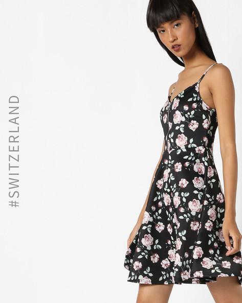 Strappy A-Line Dress By TALLY WEiJL ( Black )