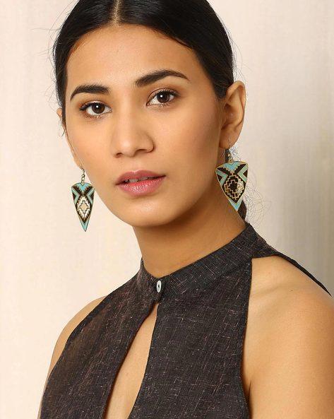 Brass Drop-Earrings By Indie Picks ( Multi ) - 460017804001