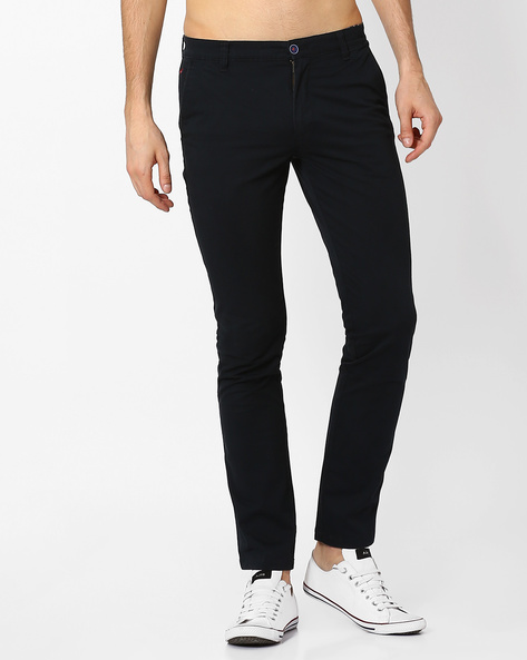 Benicio Flat Front Regular Fit Trousers By Wills Lifestyle ( Black )
