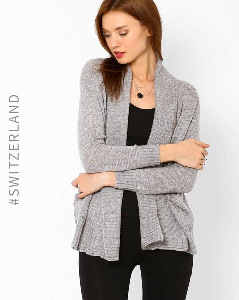Shrug With Shawl Collar By TALLY WEiJL ( Grey )
