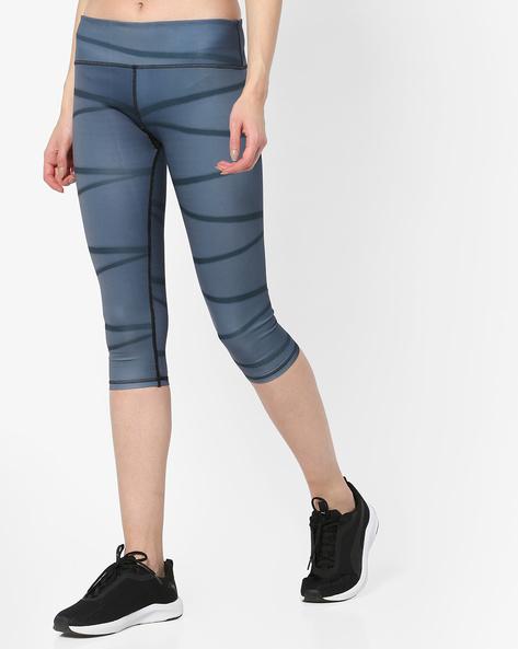Striped Calf-Length Leggings By Heart 2 Heart ( Black )