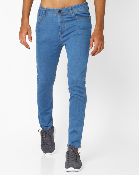 Slim Fit Jeans By ADAMO LONDON ( Lightblue )