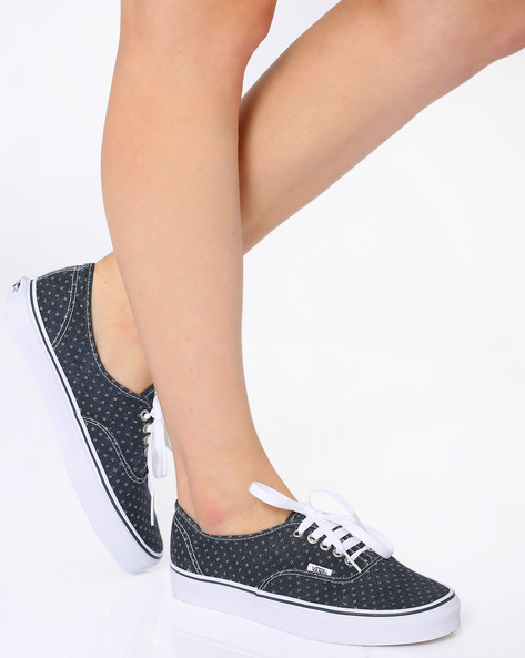 Authentic Printed Casual Shoes By Vans ( White )