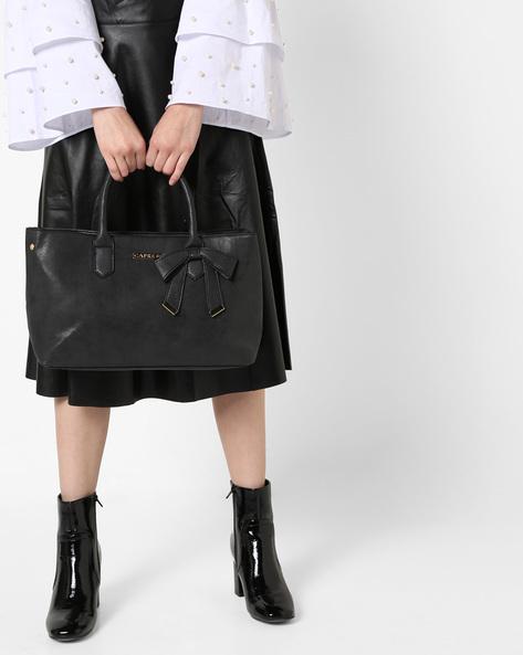 Alexandria Handbag With Bow By CAPRESE ( Black )