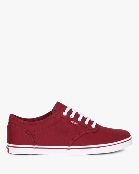 Atwood Canvas Lace-Up Casual Shoes By Vans ( White )
