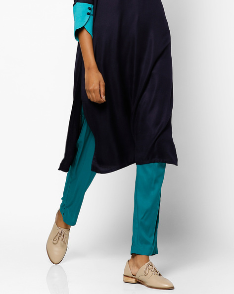 Salwar Pants With Drawstring Waist By Shree ( Green )