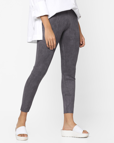 Ankle-Length Leggings By CODE By Lifestyle ( Grey )