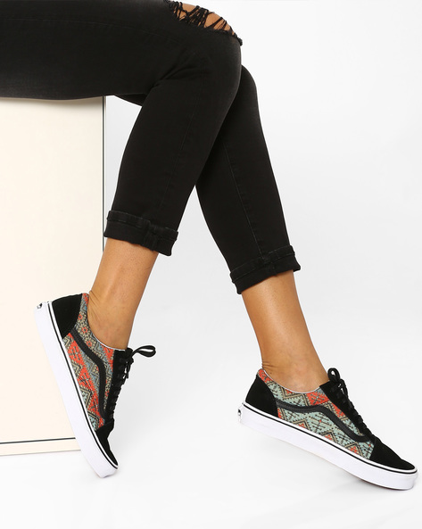 Moroccan Geo Printed Casual Shoes By Vans ( Multi )