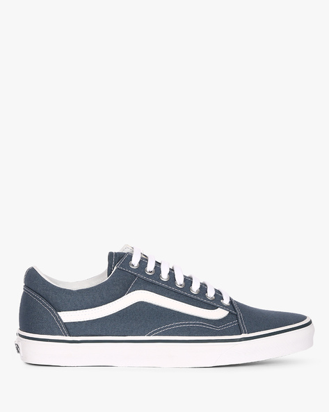 Canvas Old Skool Lace-Up Casual Shoes By Vans ( Blue )