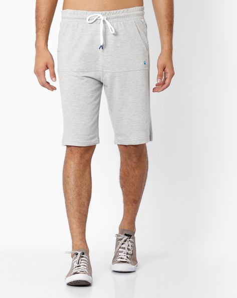 Panelled Cotton Bermuda Shorts By Under Colors Of Benetton ( Grey )