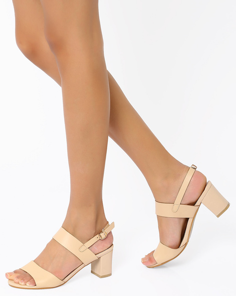 Heeled Sandals By My Foot ( Peach )