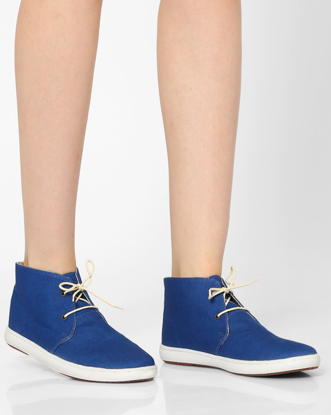High-Top Casual Shoes By Carlton London ( Navy )