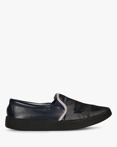 Slip-On Sneakers With Elasticated Gussets By Nuboy ( Navy )