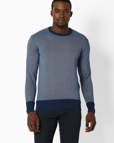 Regular Fit Crew-Neck T-shirt By NETPLAY ( Blue )
