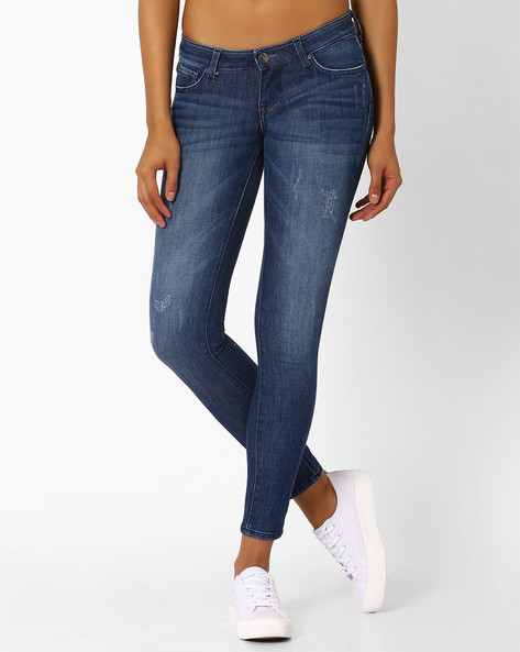 Skinny Fit Lightly Washed Jeans By Lee ( Lightblue )