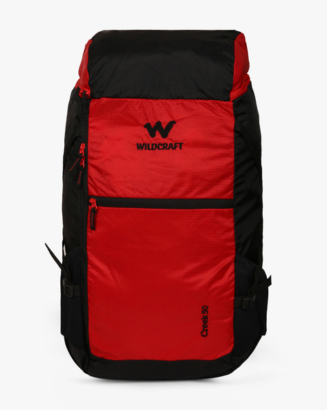 Creek 50 Colourblock Water-Resistant Travel Bag By Wildcraft ( Red )