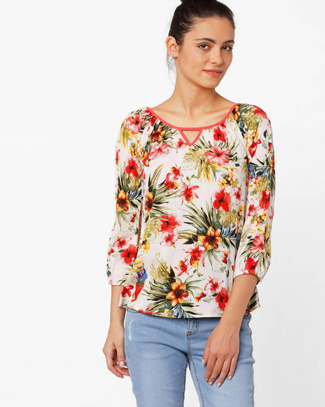 Tropical Print Top By RIDRESS ( Printed )