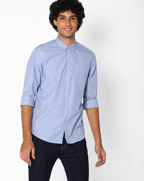 Fil-A-Fil Slim Fit Shirt By Lee ( Blue )