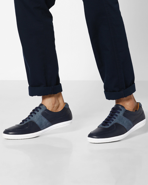 N9-Treated Lace-Up Casual Shoes By AJIO ( Navy )