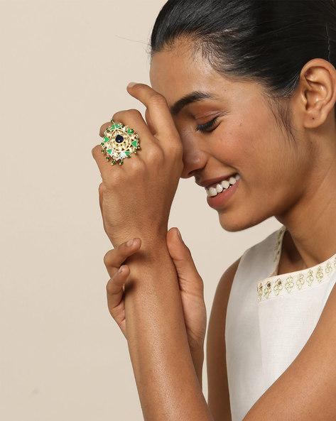 Matte Finish Brass Ring By Indie Picks ( Multi ) - 460161688001