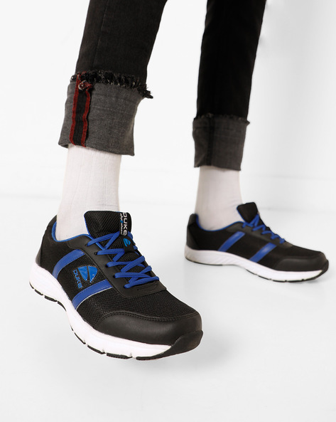 Colourblock Mesh Sports Shoes By DUKE ( Black )