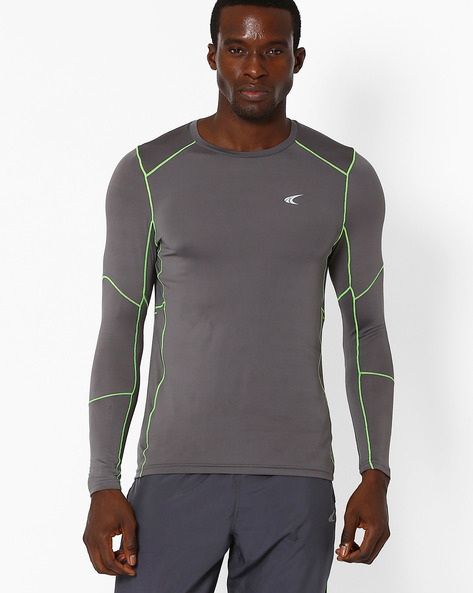 Quick Dry Training T- Shirt By PERFORMAX ( Charcoal )