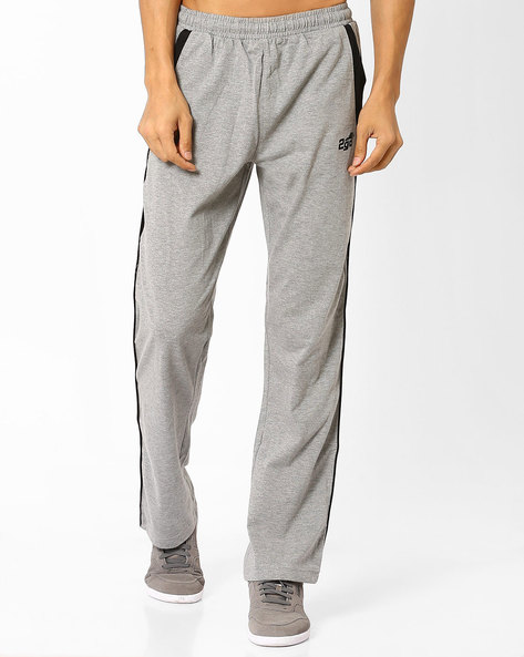Regular Fit Track Pants With Side Panels By 2Go ( Grey )