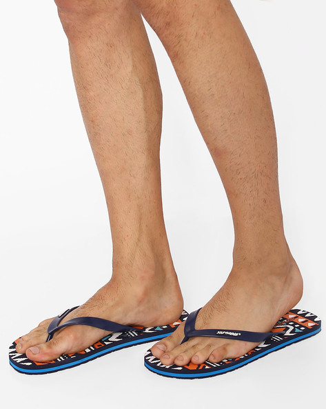 Thong-Style Empire Flip-Flops By Sole Threads ( Navy )