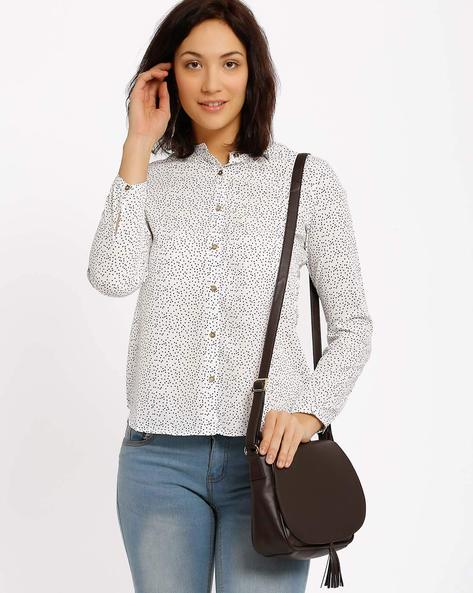 Printed Shirt By Annabelle By Pantaloons ( Beige )