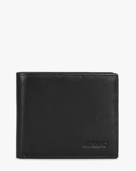 Genuine Leather Bi-fold Wallet By ALVARO CASTAGNINO ( Black ) - 460135674001