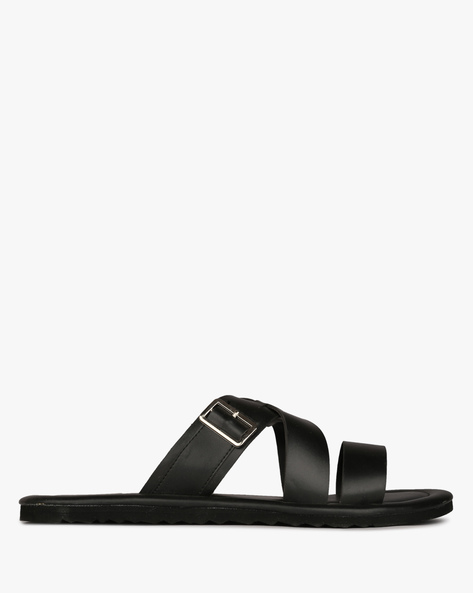 Flat Sandals With Criss-Cross Straps By DEXTER ( Black )