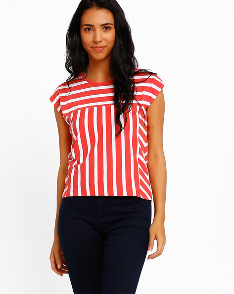 Striped Top By Style Quotient By Noi ( Red )