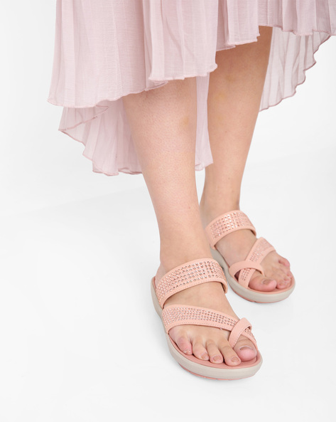 Wave Bright Embellished Strappy Sandals By CLARKS ( Rose )