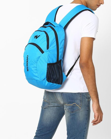 Colourblock Laptop Backpack By Wildcraft ( Lightblue )