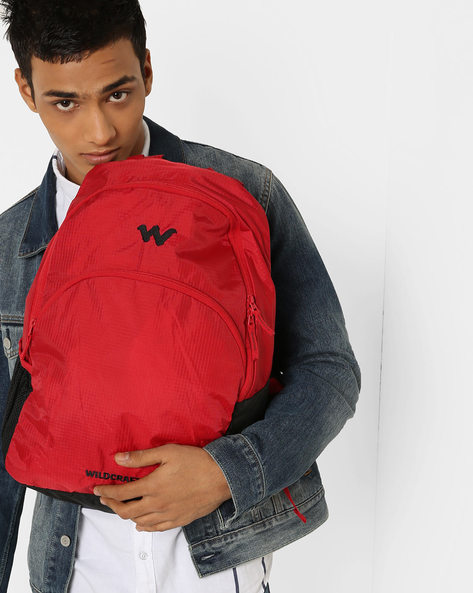 Colourblock Laptop Backpack By Wildcraft ( Red )