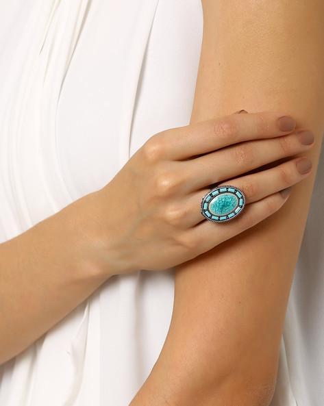 Oversized Ring By AJIO ( Lightblue )